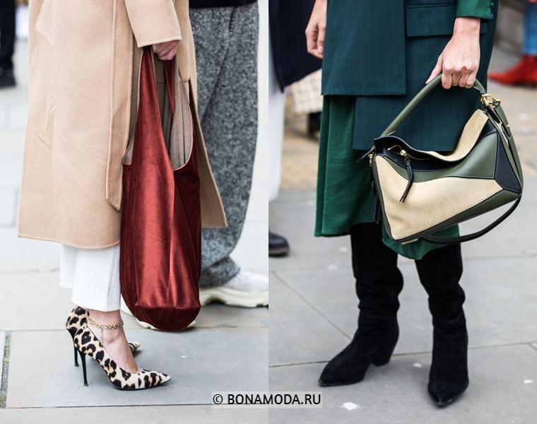 Уличный стиль Лондона осень-зима 2018-2019 - туфли с леопардовым принтом, сапоги и сумки