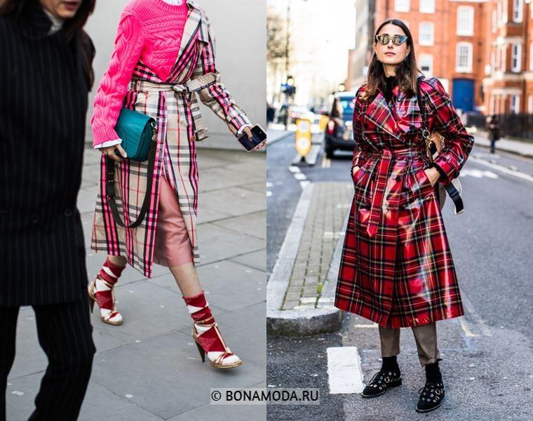Уличный стиль Лондона осень-зима 2018-2019 - модная клетка