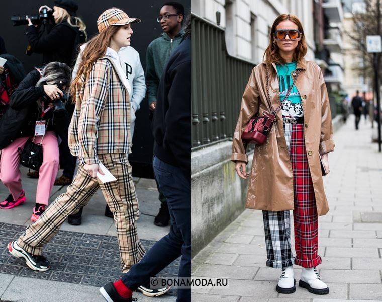 Уличный стиль Лондона осень-зима 2018-2019 - Модная клетка и бежевый цвет