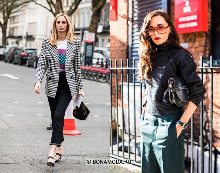 Уличный стиль Лондона осень-зима 2018-2019 - Стиль деловой женщины