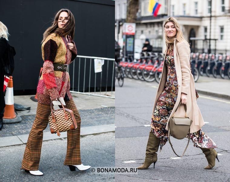 Уличный стиль Лондона осень-зима 2018-2019 - Стиль 70-х в оттенках бежевого и хаки