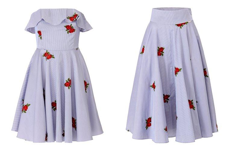 Женская коллекция Guess весна-лето 2018 - сиреневые платье и блузка с цветами