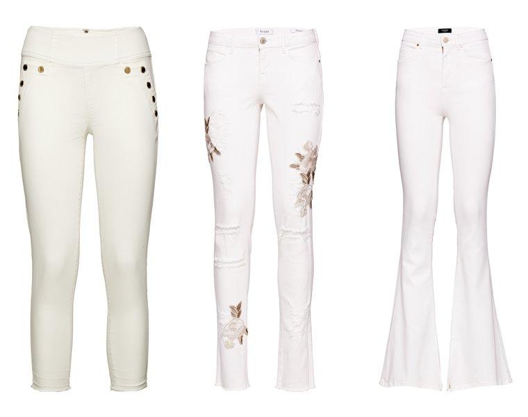 Женская коллекция Guess весна-лето 2018 - белые джинсы