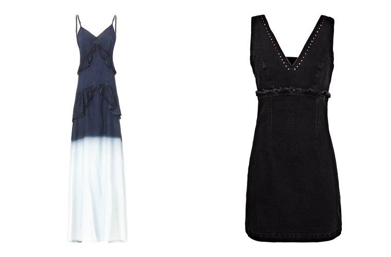 Женская коллекция Guess весна-лето 2018 - длинное и короткое платья
