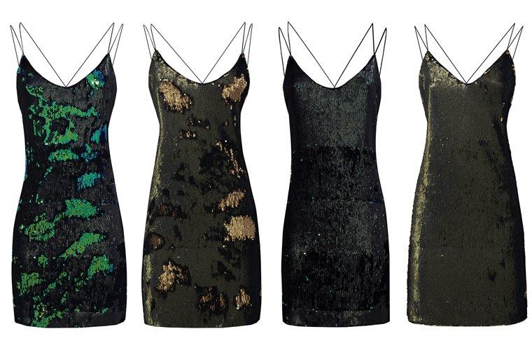 Женская коллекция Guess весна-лето 2018 - короткие коктейльные платья на бретелях