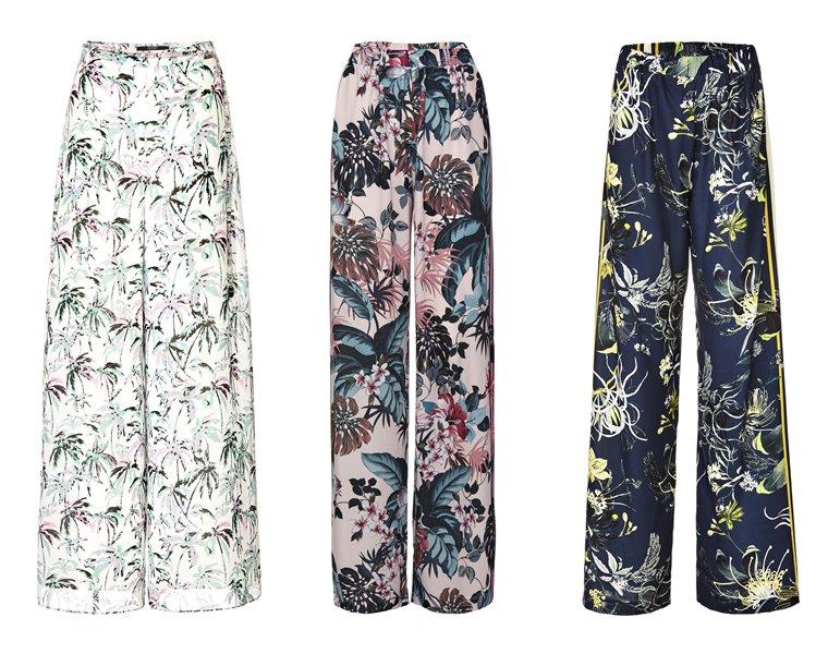 Женская коллекция Guess весна-лето 2018 - брюки палаццо с цветочным принтом