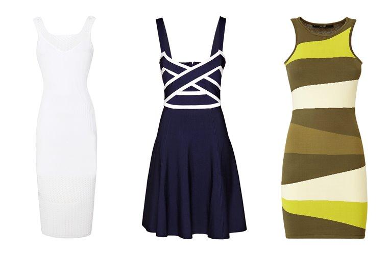 Женская коллекция Guess весна-лето 2018 - облегающие короткие платья
