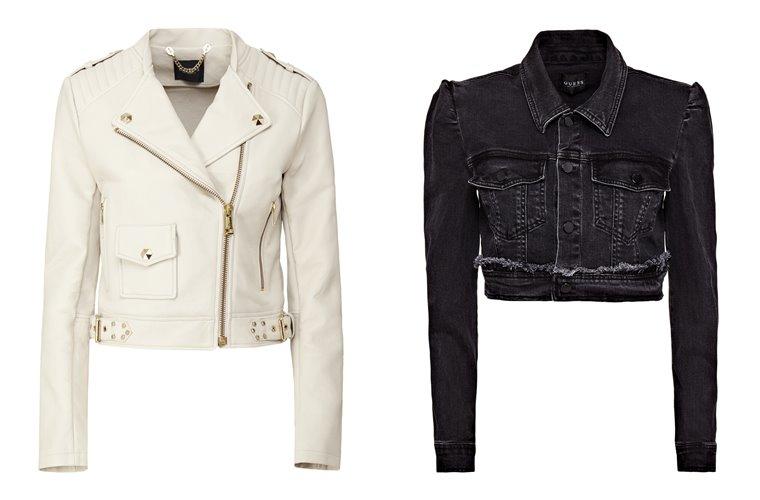 Женская коллекция Guess весна-лето 2018 - молодёжные куртки из кожи и денима