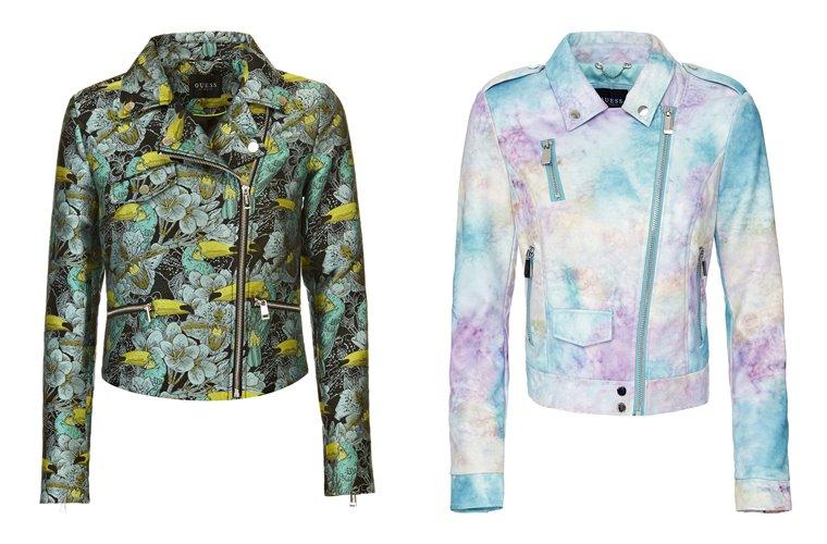 Женская коллекция Guess весна-лето 2018 - куртки-косухи с принтами