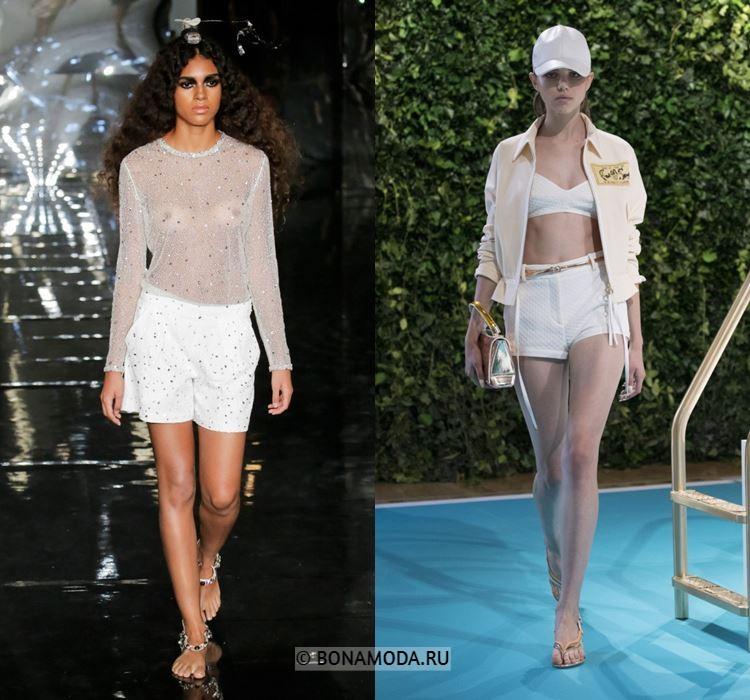 Женские шорты весна-лето 2018 - Летние белые шорты