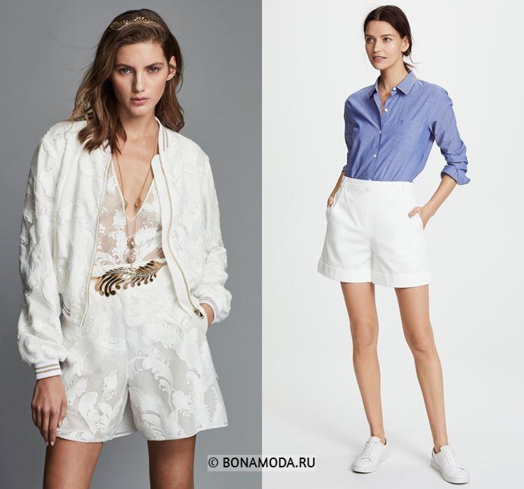 Женские шорты весна-лето 2018 - Элегантные белые шорты