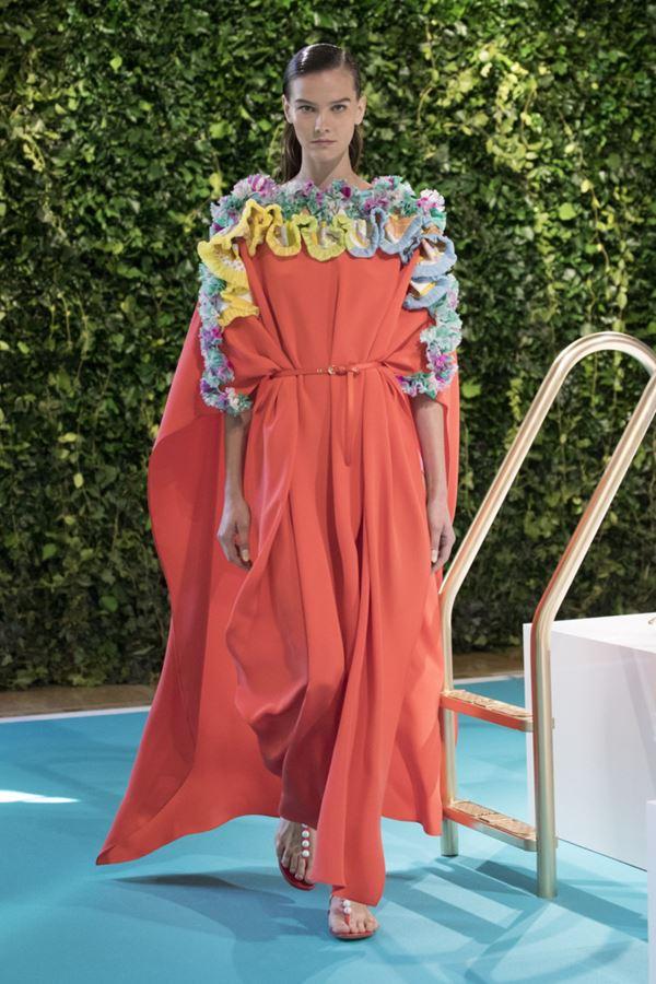 Женские туники весна-лето 2018 - Длинное оранжевое платье-туника Emilio Pucci