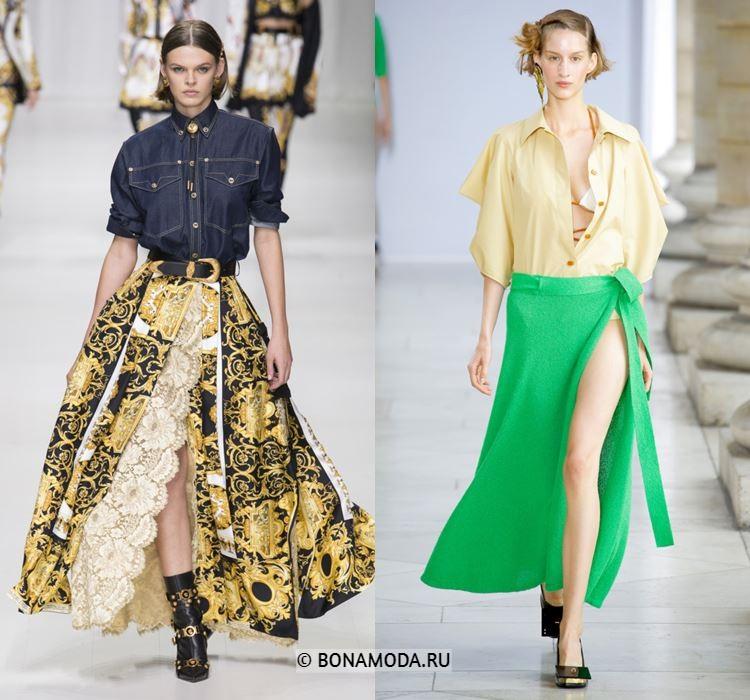 Женские юбки весна-лето 2018 - Модные юбки в стиле саронг