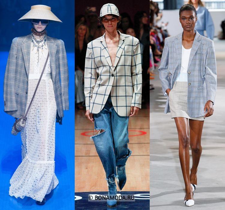 Женские жакеты и пиджаки весна-лето 2018 - пиджаки оверсайз в клетку