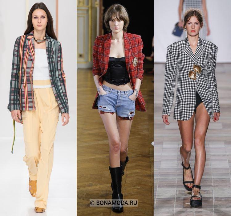 Женские жакеты и пиджаки весна-лето 2018 - Молодёжные жакеты в клетку