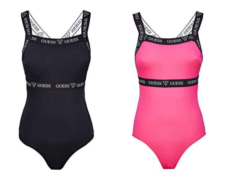 Спортивная коллекция Guess Activewear весна-лето 2018 - черное  розовое боди