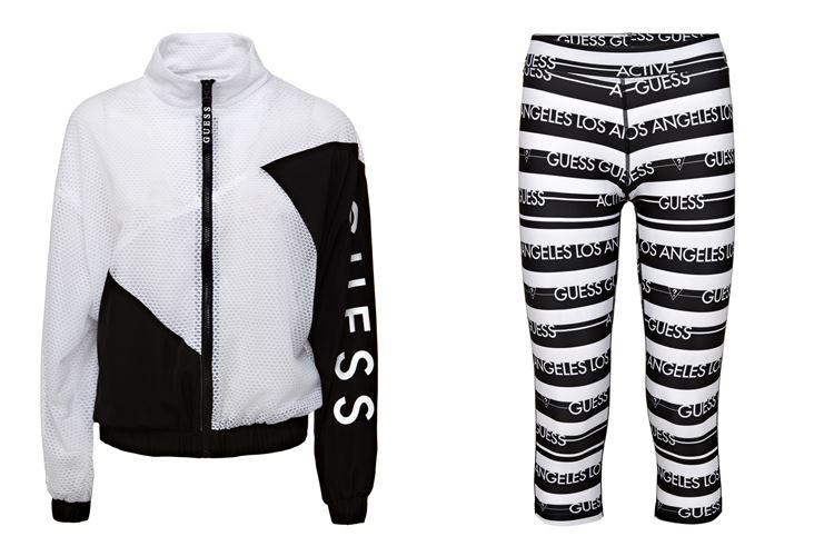 Спортивная коллекция Guess Activewear весна-лето 2018 - куртка и леггинсы