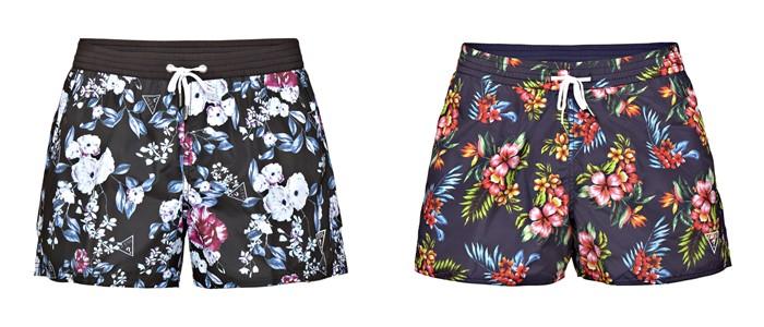 Мужская коллекция Guess весна-лето 2018 - цветочные шорты