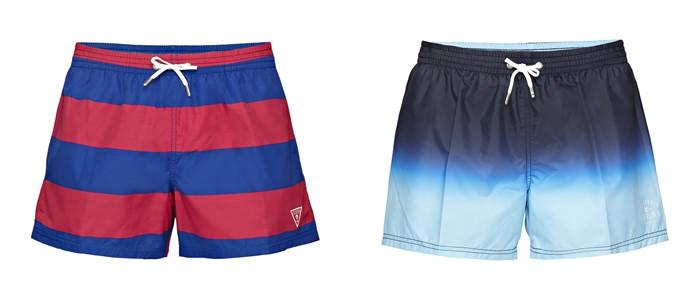 Мужская коллекция Guess весна-лето 2018 - полосатые шорты