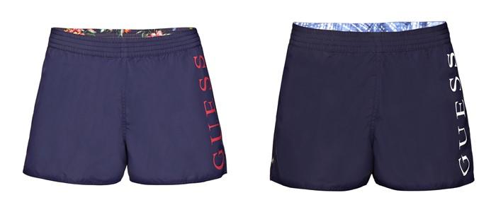 Мужская коллекция Guess весна-лето 2018 - темно-синие спортивные шорты