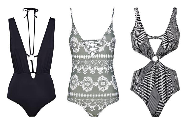 Пляжная коллекция Guess Beachwear весна-лето 2018 - купальники с вырезами