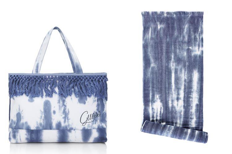Пляжная коллекция Guess Beachwear весна-лето 2018 - пляжная сумка и полотенце