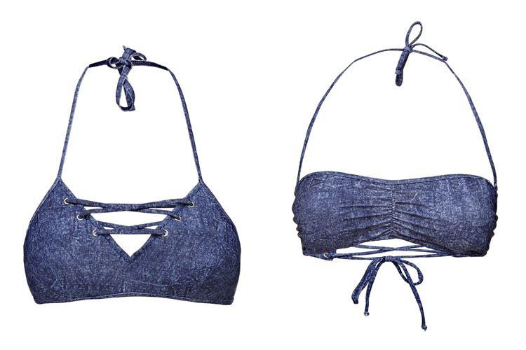 Пляжная коллекция Guess Beachwear весна-лето 2018 - джинсовые бюстгальтеры