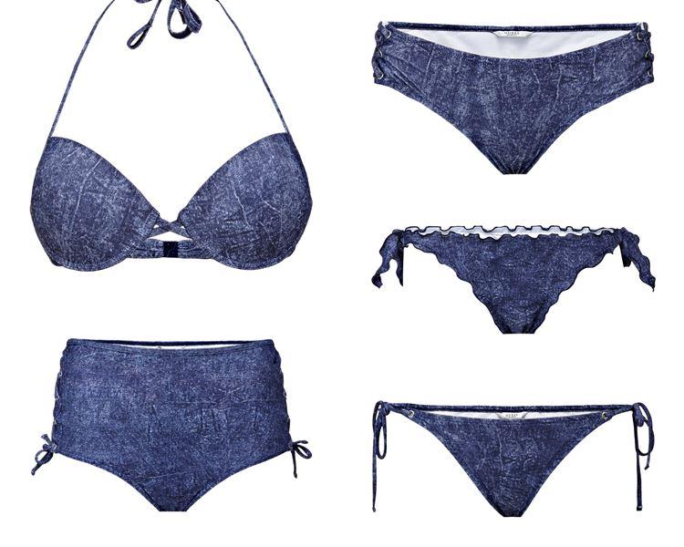 Пляжная коллекция Guess Beachwear весна-лето 2018 - джинсовые трусики и лифчик