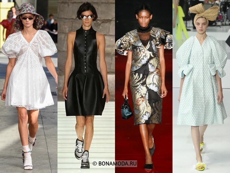 Коктейльные платья весна-лето 2018  - Жёсткий архитектурный крой
