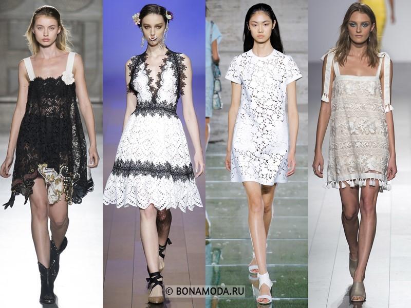 Коктейльные платья весна-лето 2018  - Короткие кружевные платья