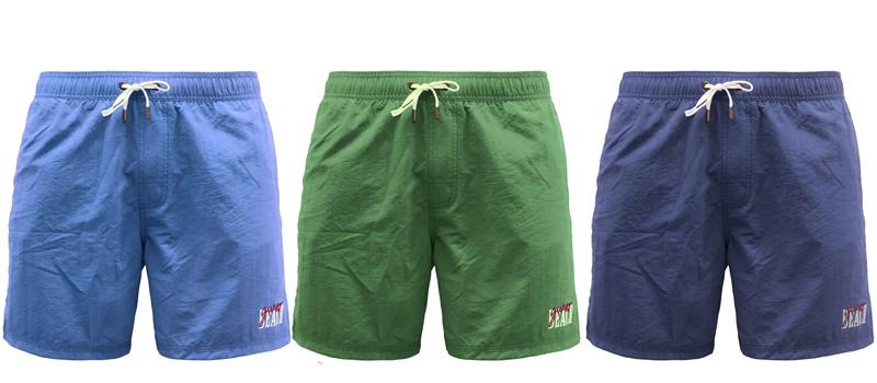 Мужские пляжные шорты Guess Originals весна-лето 2018 - синие и зеленые