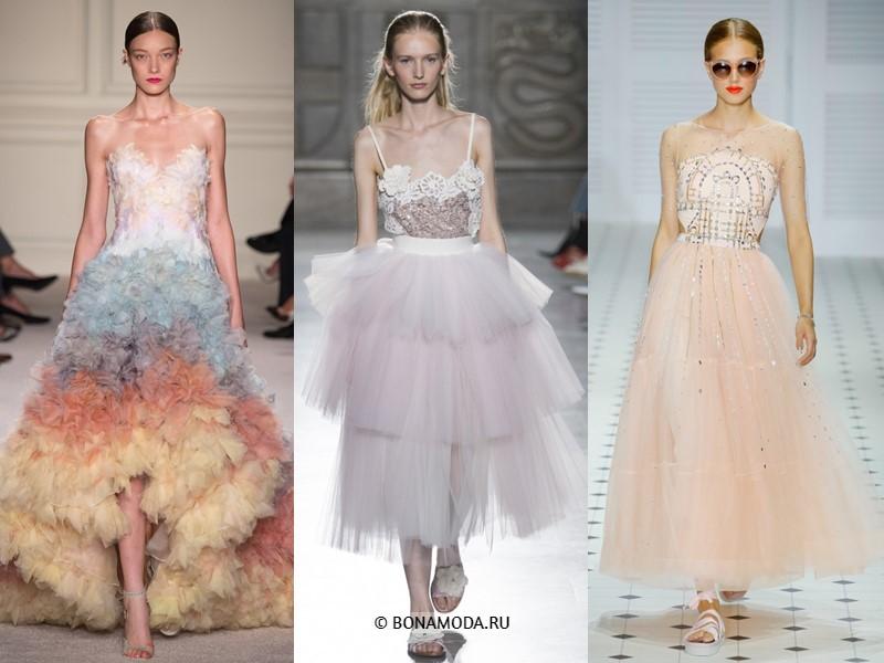 Вечерние платья весна-лето 2018 - пышные платья принцессы тюлевые