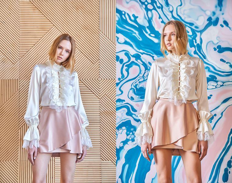 Коллекция Girlpower Label весна-лето 2018 - шёлковые блузки с юбками