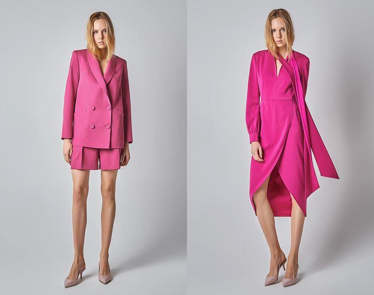 Коллекция Girlpower Label весна-лето 2018 - ярко-розовый костюм и платье