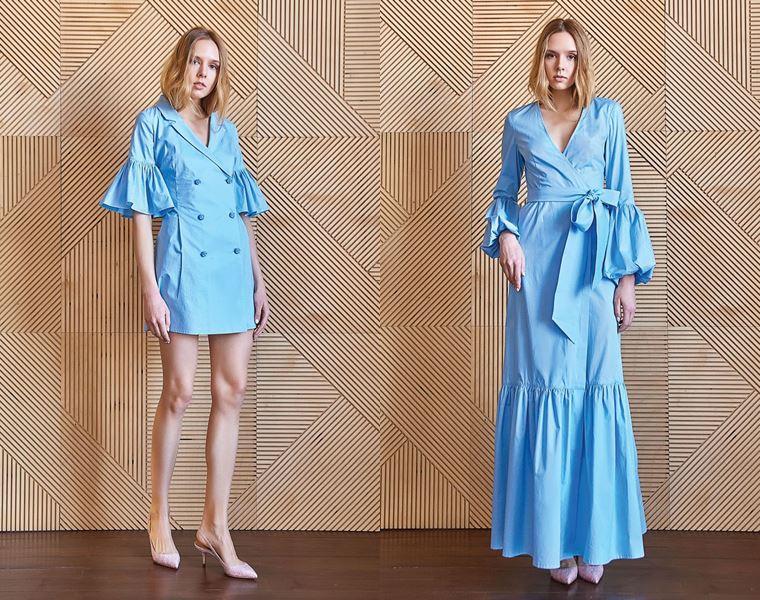 Коллекция Girlpower Label весна-лето 2018 -  ярко-голубые платья