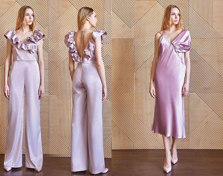 Коллекция Girlpower Label весна-лето 2018 -  сиреневый комбинезон и розовое платье