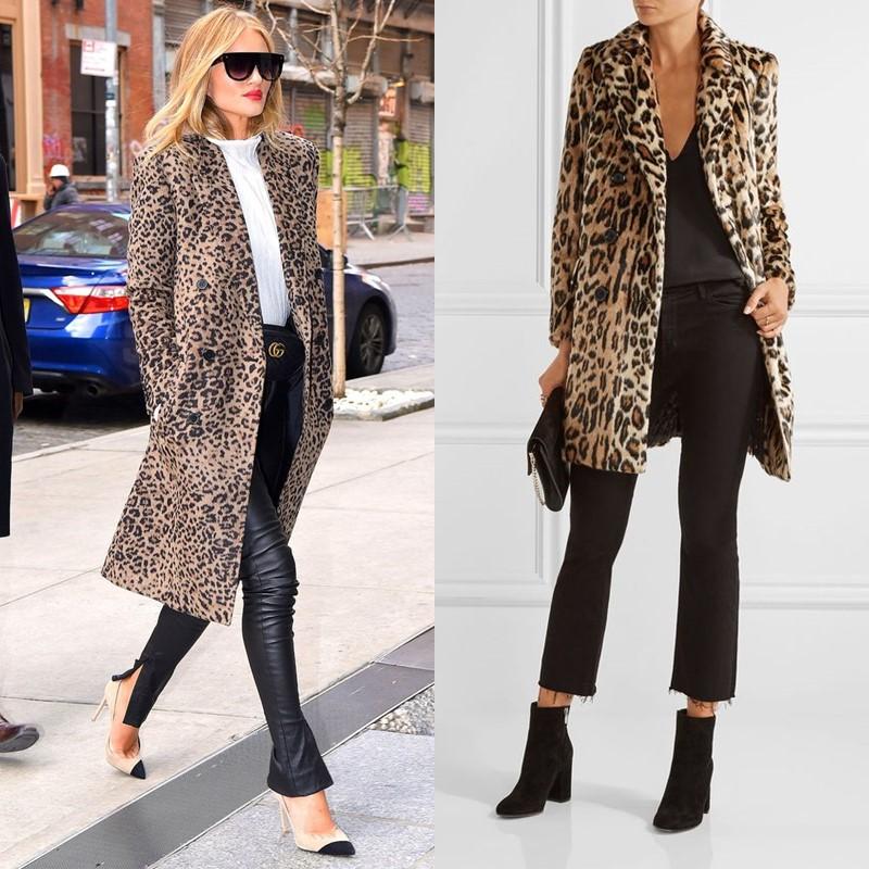 Как носить леопардовое пальто – простой минималистичный крой