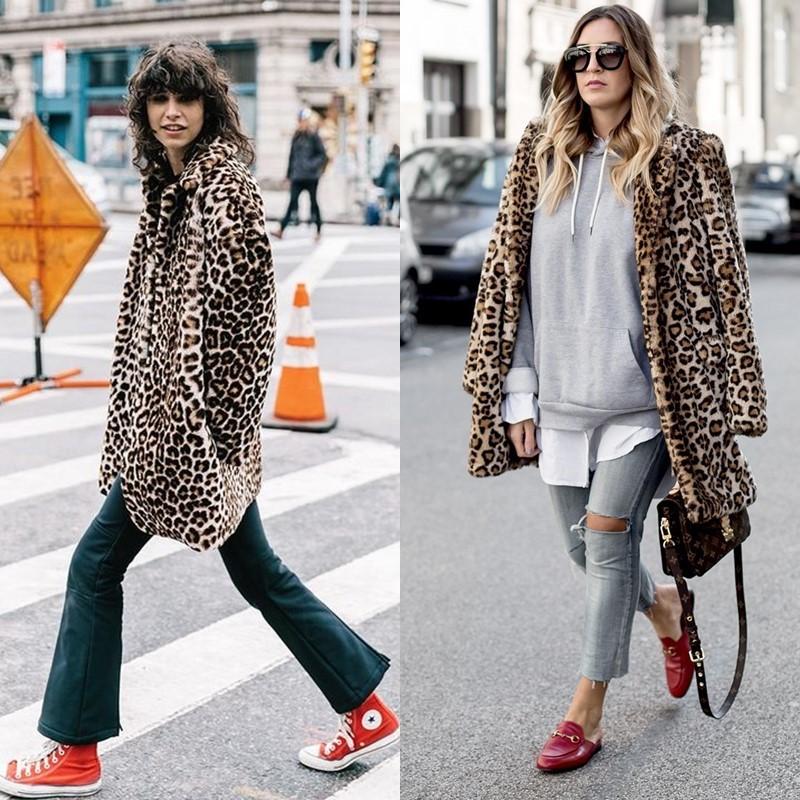 Как носить леопардовое пальто – Обувь на плоском ходу