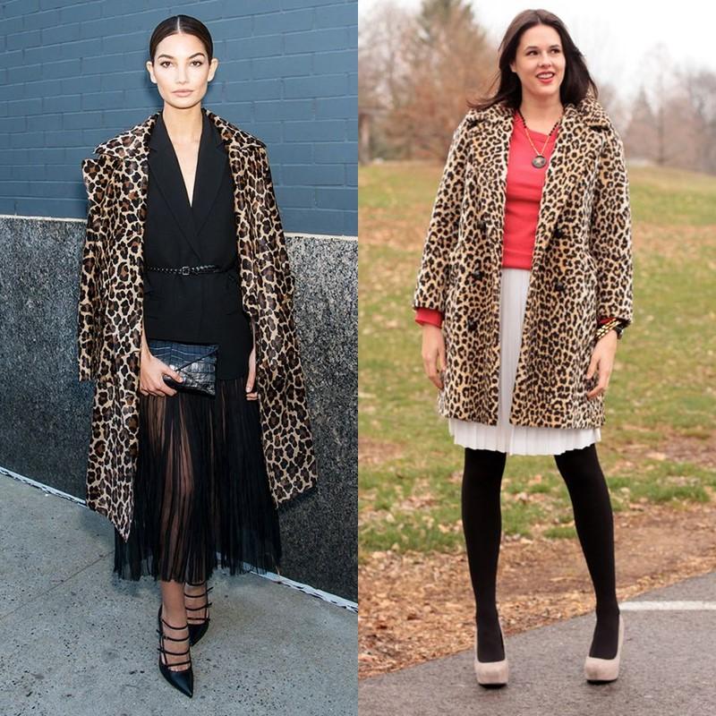 Как носить леопардовое пальто – Плиссированная юбка