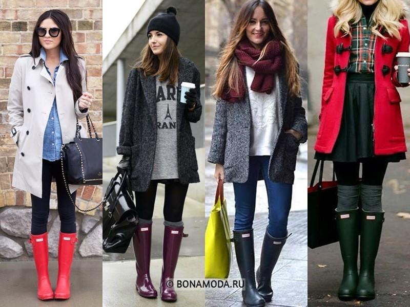 Как стильно носить резиновые сапоги - С базовым пальто или плащом