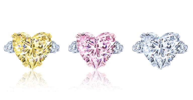 Ювелирный бренд KoJewelry - коллекция из золота 750 пробы с цветными сердечками