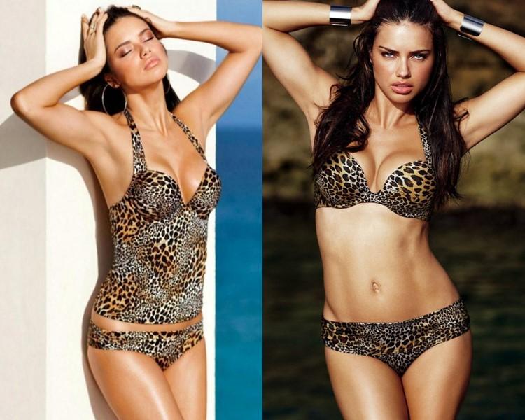 Звёзды в леопардовых купальниках - Адриана Лима