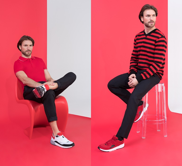 Коллекция BAON by Liasan Utiasheva весна-лето 2018 - мужская одежда в красно-черных тонах