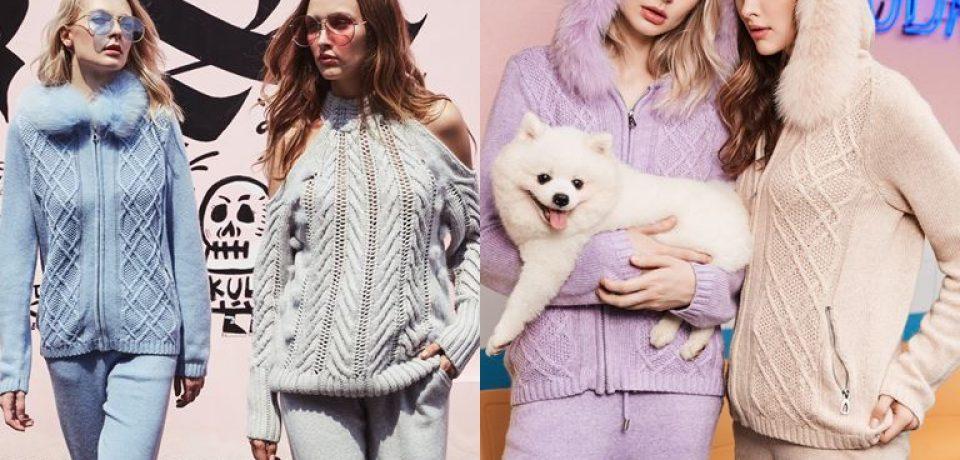 Модный трикотаж из Латвии: лукбук Ina Vokich осень-зима 2018-2019