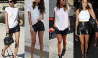 Как стильно носить кожаные шорты: 8 лучших сочетаний