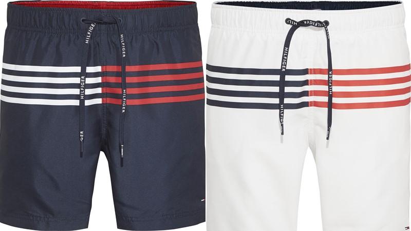 Мужские пляжные шорты Tommy Hilfiger весна-лето 2018 - синие и белые в полоску