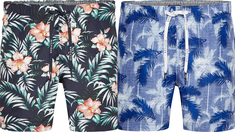Мужские пляжные шорты Tommy Hilfiger весна-лето 2018 - цветочный принт