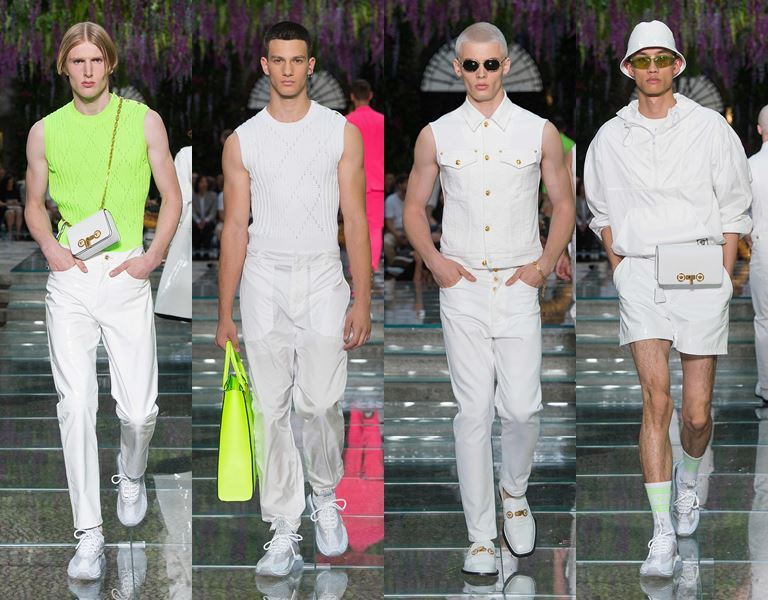 Мужская коллекция Versace весна-лето 2019 - белый тотал лук