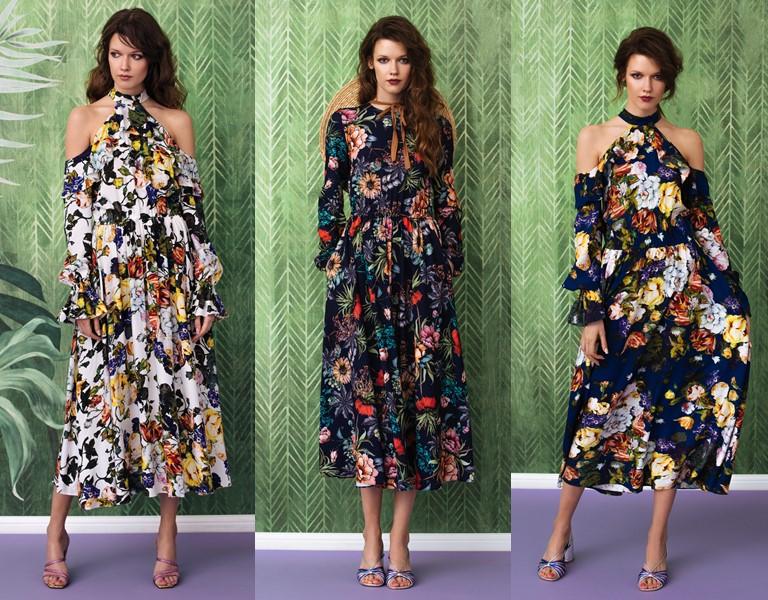 Круизная коллекция-2018 от Yulia Prokhorova Beloe Zoloto - цветочные платья
