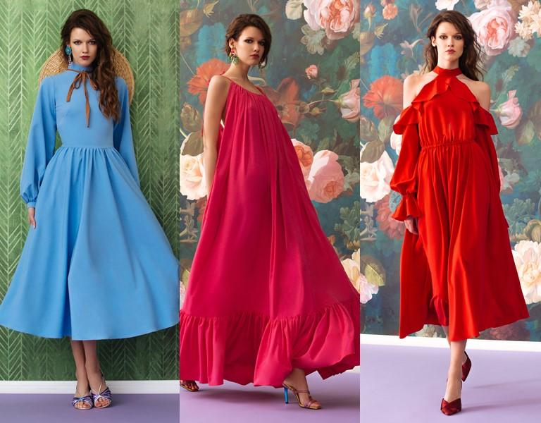 Круизная коллекция-2018 от Yulia Prokhorova Beloe Zoloto - голубые и красные летние платья